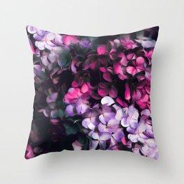 Hydrangea pattern II Throw Pillow