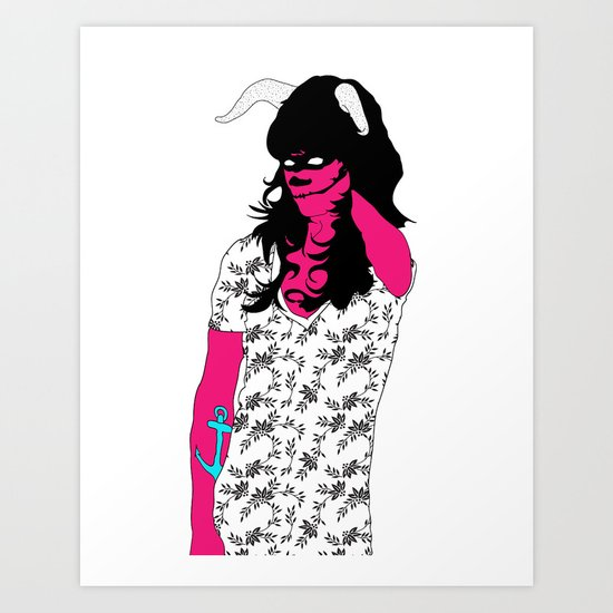 America's Next Top Demon Art Print