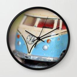 Vintage Minibus-Color Wall Clock