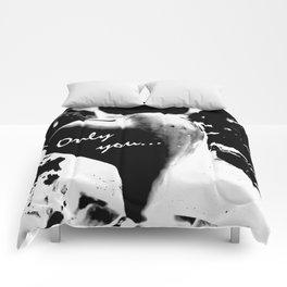 Heart in black Comforters