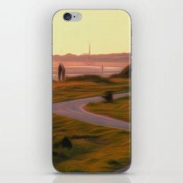 Walk along the coastal path iPhone Skin