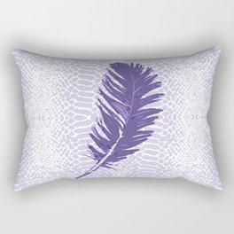 Violet feather Rectangular Pillow