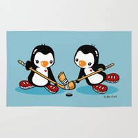 hockey Area & Throw Rugs featuring Ice Hockey by joanfriends