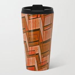 Architectural Abstract in Red Travel Mug