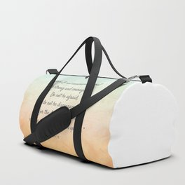 Be Strong and Courageous, Bible Quote, Joshua 1:9 Duffle Bag