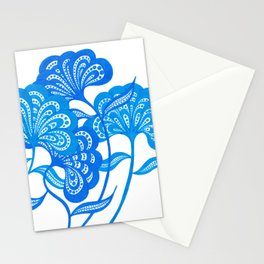 Blue Bloom Stationery Cards