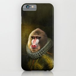 Portrait of Marquis de Mandrille iPhone Case