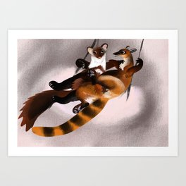 Love galidia and the swing Art Print