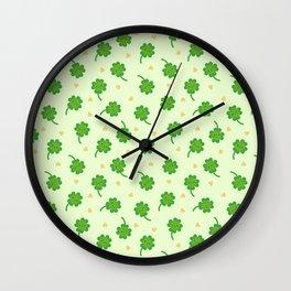 Kawaii Lucky Clover Wall Clock