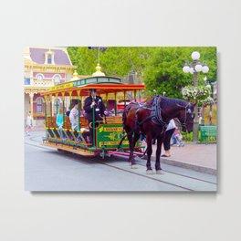 Horse-Drawn Trolley I Metal Print