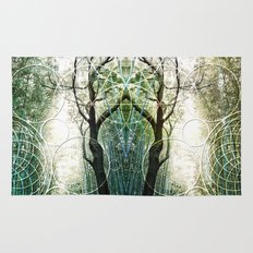 Bamboo Forest Geometry Rug