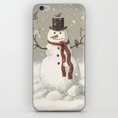 Christmas Snowman  iPhone & iPod Skin