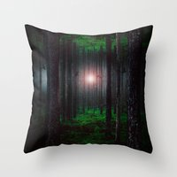 cabin pressure Throw Pillows featuring Pressure by HappyMelvin
