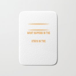 Barber Shop Rules design Quote Saying Hair Stylist Gift Bath Mat