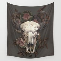 marc Wall Tapestries featuring Nightshade by Terry Fan
