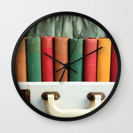 Vintage Colorful Classics in Suitcase Wall Clock