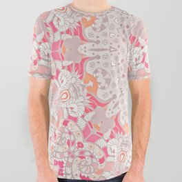 BOHO SUMMER JOURNEY MANDALA - PASTEL ROSE PINK All Over Graphic Tee