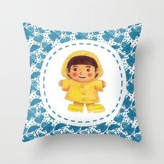 The Rain Girl Throw Pillow