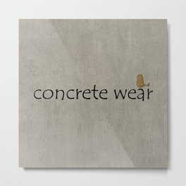 Concrete Wear Metal Print