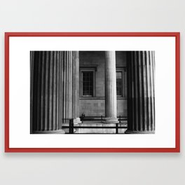 Columns of scale - British Museum, London Framed Art Print