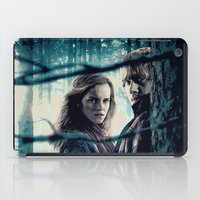 hermione iPad Cases featuring H. Potter - Hermione & Ron by Juniper Vinetree