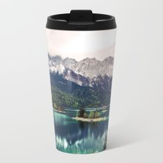 Green Blue Lake and Mountains - Eibsee, Germany Travel Mug