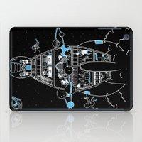 interstellar iPad Cases featuring Interstellar Travels by Sarah Crosby