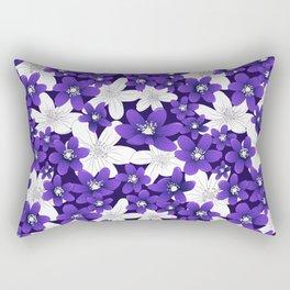 Ultra Violet Garden Rectangular Pillow
