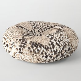 Snake skin art print Floor Pillow