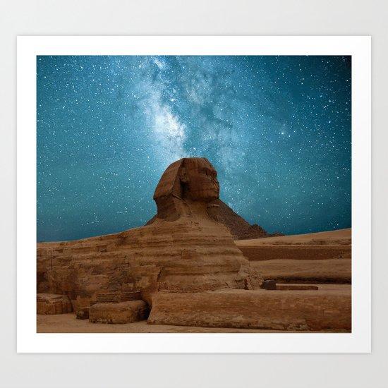Sphinx and Pyramids, Egypt Art Print