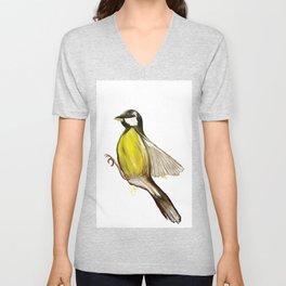 Bird in Flight, Yellow Bird Unisex V-Neck
