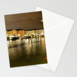Boat on river Stationery Cards