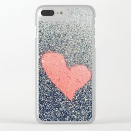 """""""love is natural and real"""" Clear iPhone Case"""