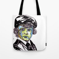 u2 Tote Bags featuring Decomposition IV - Lucifer by Joseph Walrave