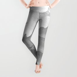 misty mountains - grey palette Leggings