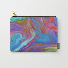 AGATE INTERPRETED:  COOL WAVES HOT SUMMER BREEZE OIL PAINTING Carry-All Pouch