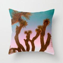 Joshua Tree Desert Sunset Throw Pillow