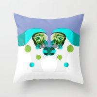 gemini Throw Pillows featuring Gemini by Akwaflorell