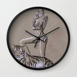 Empowered - Modern Goddess Portrait Wall Clock