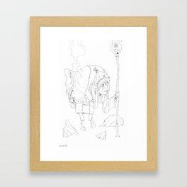 Zen master 01... Framed Art Print