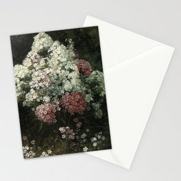 Phlox 1886 By David Johnson | Reproduction | Romanticism Landscape Painter Stationery Cards