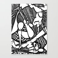 hiphop Canvas Prints featuring HipHop by mandybrown Art
