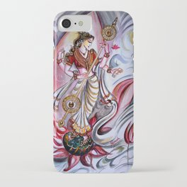 Musical Goddess Saraswati - Healing Art iPhone Case