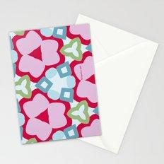 Flower-Kaleidoscope Pink Stationery Cards