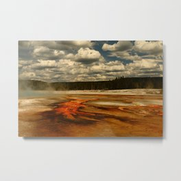 Hot And Colorful Thermal Area Metal Print
