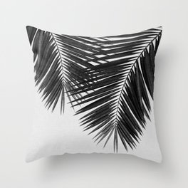 Palm Leaf Black & White II Throw Pillow
