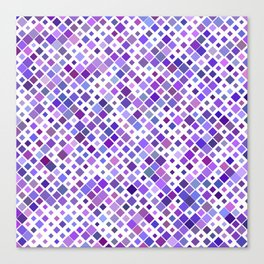 Purple Squared Canvas Print