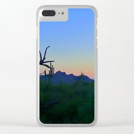 Desert at Sunset Clear iPhone Case