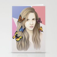 karen Stationery Cards featuring Karen by Anya Timofeeva