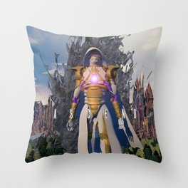 Ascend  from  Ruin Throw Pillow